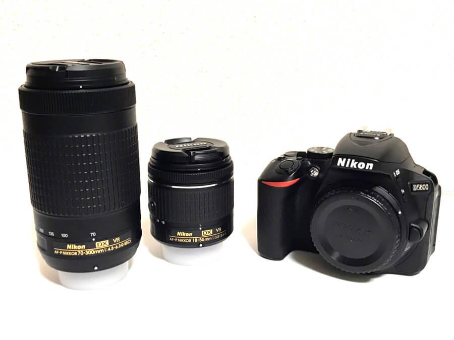 Nikon(ニコン) D5600 一眼レフカメラ 18-55 VR 70-300 VR ダブルズームキット